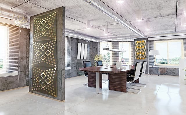 modern office interior. 3d design concept